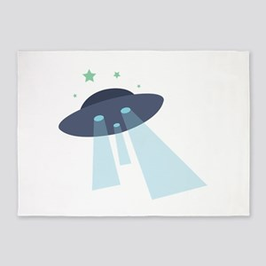 Sight The UFO! 5'x7'Area Rug
