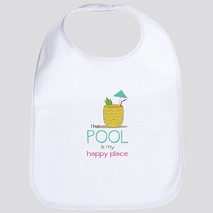 The Pool Is My Happy Place Bib
