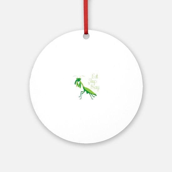 Eat Sleep Pray Ornament (Round)