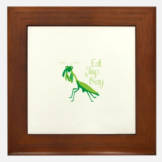 Eat Sleep Pray Framed Tile
