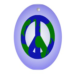 Earth Peace Sign (Holiday Tree Ornament)