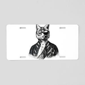 Vintage Pirate Cat Aluminum License Plate