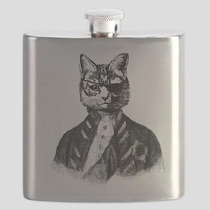 Vintage Pirate Cat Flask