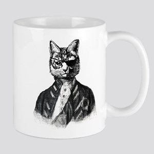Vintage Pirate Cat Mugs