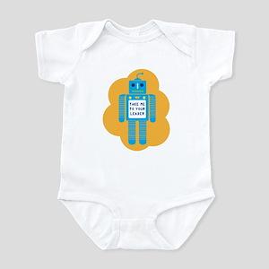 Blue Robot Infant Bodysuit