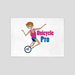 Unicycle Pro 5'x7'Area Rug