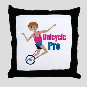 Unicycle Pro Throw Pillow