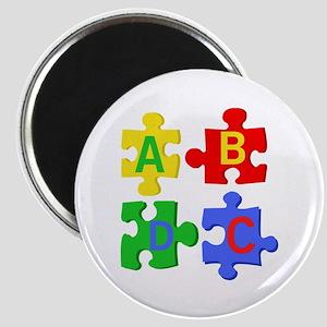 Puzzle Letters Magnets
