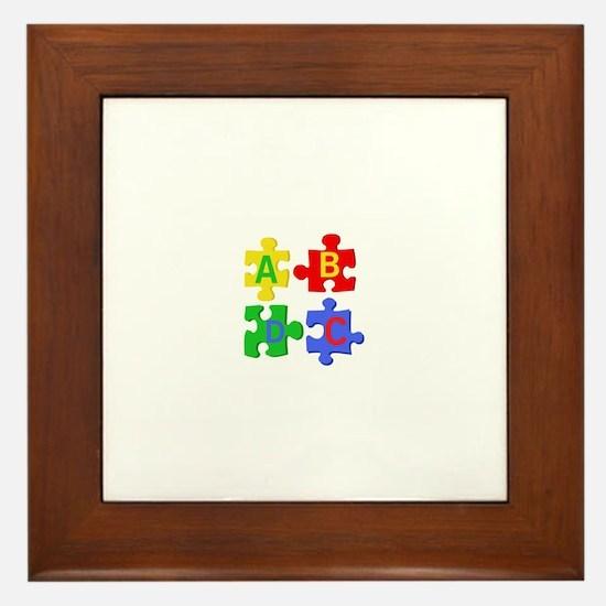Puzzle Letters Framed Tile