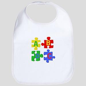 Puzzle Letters Bib