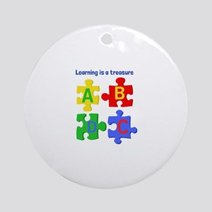 Learning Is Treasure Ornament (Round)