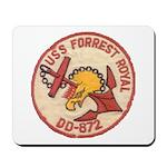 USS FORREST ROYAL Mousepad