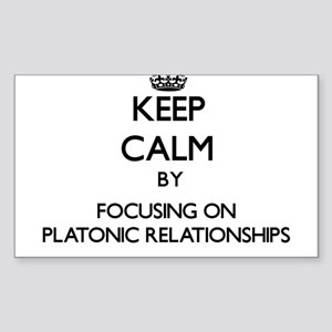 Keep Calm by focusing on Platonic Relation Sticker