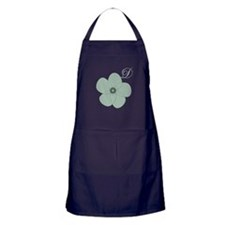 Vintage Green Flower Apron (dark)
