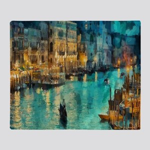 Venice Painting Throw Blanket