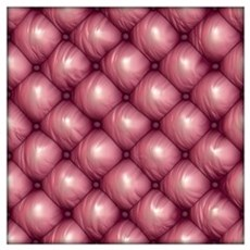 Lounge Leather - Pink Wall Art Poster