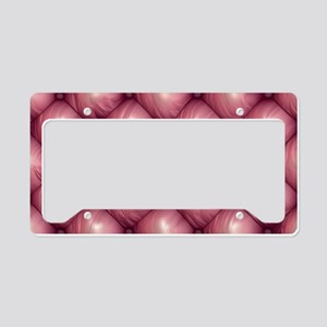 Lounge Leather - Pink License Plate Holder