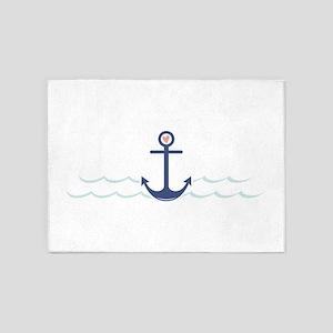 Ship Anchor 5'x7'Area Rug