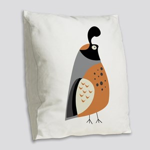 Partridge Burlap Throw Pillow