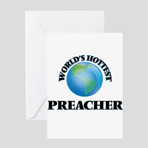 World's Hottest Preacher Greeting Cards