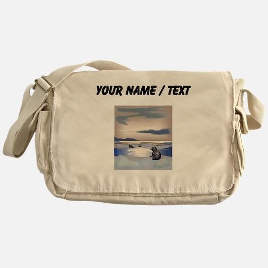 Custom Sea Lion Island Messenger Bag