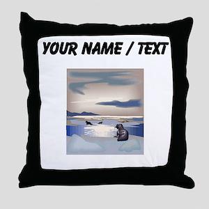Custom Sea Lion Island Throw Pillow