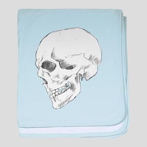Pop Art Skull 1 baby blanket