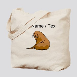 Custom Brown Sea Lion Tote Bag