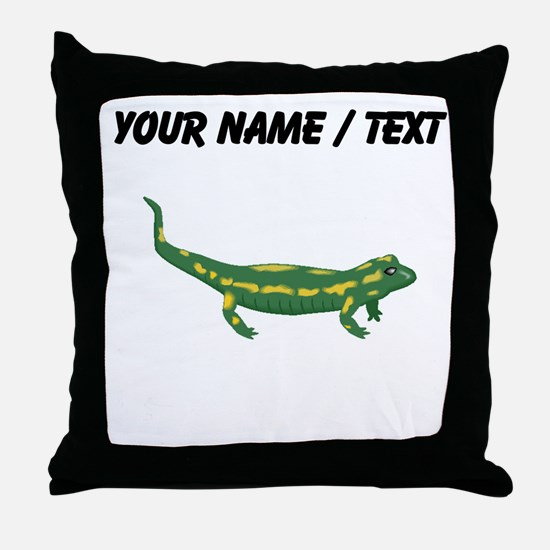 Custom Salamander Throw Pillow