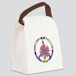 Peace Sign Canvas Lunch Bag