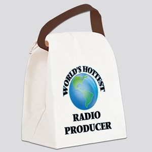 World's Hottest Radio Producer Canvas Lunch Bag