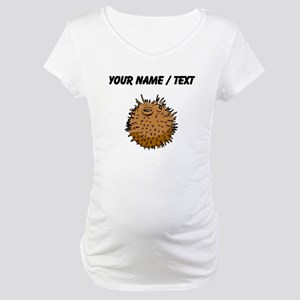 Custom Puffer Fish Maternity T-Shirt
