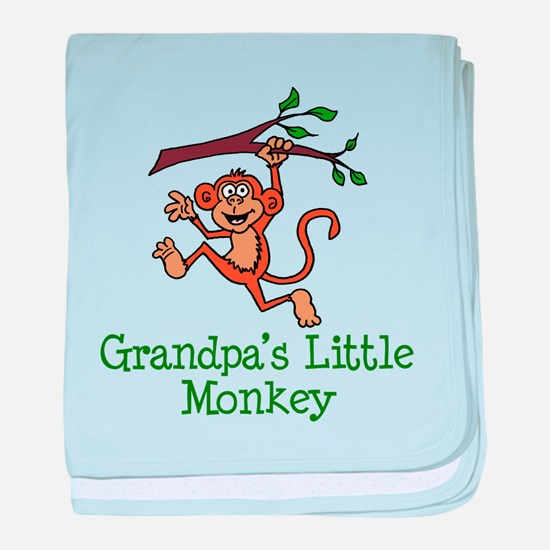 Grandpa's Little Monkey baby blanket