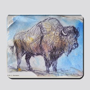 American Buffalo, animal art Mousepad