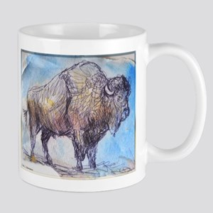 American Buffalo, animal art Mugs