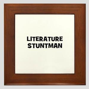 Literature Stuntman Framed Tile