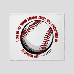PHILIPPIANS 4:13 Throw Blanket