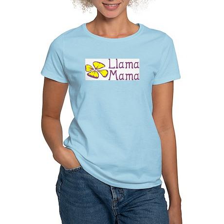 """Llama Mama"" Women's Pink T-Shirt"