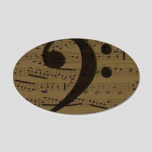 Musical Bass Clef sheet music Wall Decal