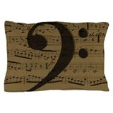 Bass clef music Pillow Cases