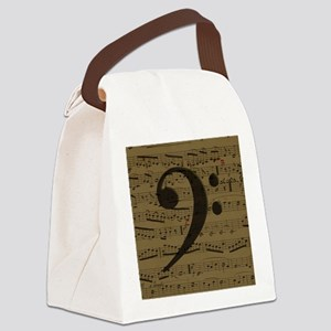 Musical Bass Clef sheet music Canvas Lunch Bag