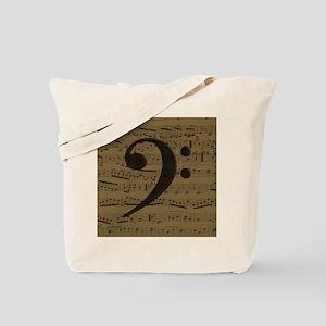Musical Bass Clef sheet music Tote Bag