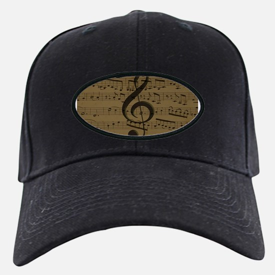 Musical Treble Clef sheet music Baseball Hat