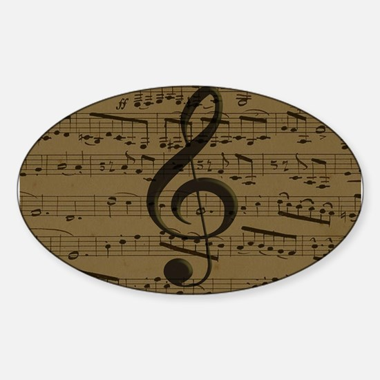 Musical Treble Clef sheet music Decal