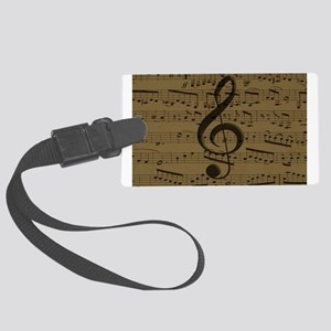 Musical Treble Clef sheet music Luggage Tag