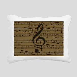 Musical Treble Clef sheet music Rectangular Canvas