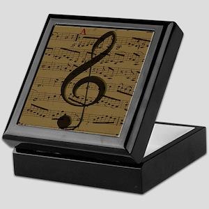 Musical Treble Clef sheet music Keepsake Box