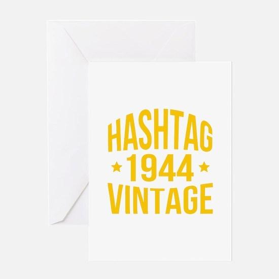 Hashtag 1944 Vintage Greeting Card