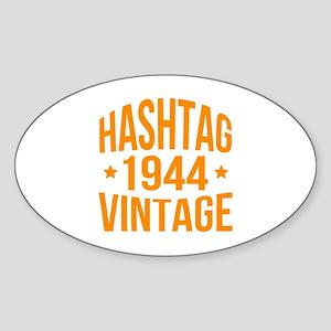 Hashtag 1944 Vintage Sticker (Oval)