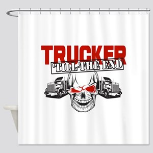Trucker 'Till The End Shower Curtain